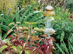 DIY Garden Ideas: Glittering Glass Accents
