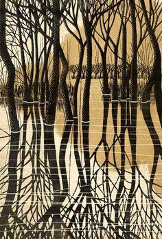 """Képtalálat a következőre: """"Ray Morimura Japanese woodcut"""" Japanese Prints, Japanese Art, Linocut Prints, Art Prints, Block Prints, Art Occidental, Japanese Woodcut, Illustrations, Illustration Art"""