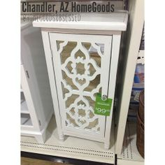 Need this for my bathroom!  Mirrored cabinet with white overlay. $99.99 #homegoods