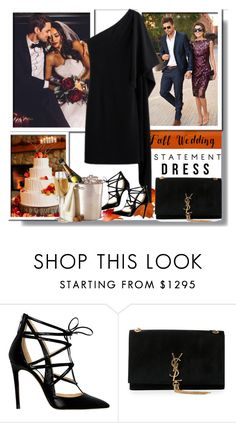 """""""Fall Wedding:  My Outfit"""" by teah507 ❤ liked on Polyvore featuring LARA, Alejandro Ingelmo, Yves Saint Laurent and fallwedding"""