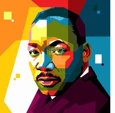 martin luther king art -geometric