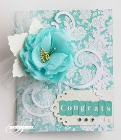 Prima by Sharon using the new Sizzix dies Pretty Cards, Cute Cards, Arts And Crafts, Paper Crafts, Art Crafts, Scrapbook Paper Flowers, Card Tags, Creative Cards, Anniversary Cards
