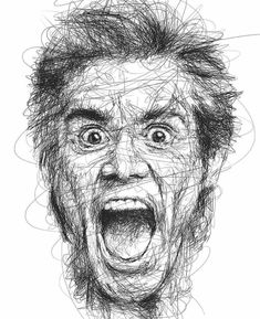 Scribble-Style Portraits of Jim Carrey Capture His Famously Funny Faces Funny Face Drawings, Tumblr Drawings, Realistic Drawings, Funny Faces, Easy Drawings, Pencil Drawings, Pencil Art, Pencil Sketching, Figure Drawings