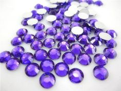 Purple --- 1000pc 4mm Flat Back High Quality Rhinestones Round 14 Cut (16ss) -- by lovekitty *** You can get more details by clicking on the image.
