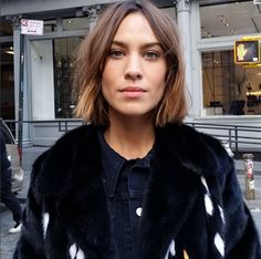 Alexa Chung | Doing a photoshoot in NYC | October 8, 2015