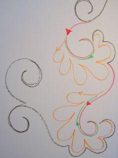 Ivory Spring quilting motif