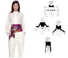 How To Tie A Scarf - Hermès Scarf Knotting Cards - Ceinture Smoking