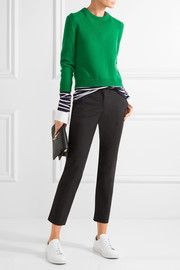 Samantha stretch-cotton slim-leg pants