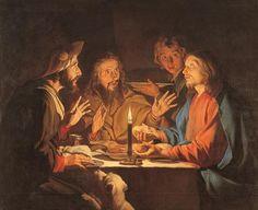 Mathias STOMER (1600-1650), Le Repas d'Emmaüs, Huile sur toile, 130x164 cm | Musée de Grenoble