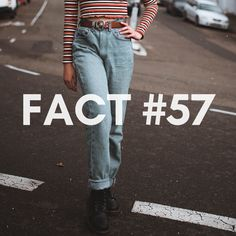 Fact Did you knew? Baggy pants were first worn inside a Los Angeles prison, since the inmates weren't allowed to wear belts. All About Fashion, Ootd Fashion, New Woman, Prison, Belts, Mom Jeans, Trousers, Brand New, Dallas