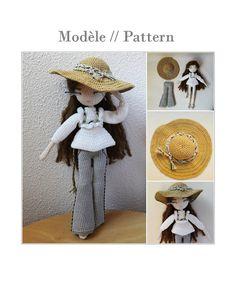 Mariette Crochet doll pattern by Flaviecrochette on Etsy ♡ lovely crochet doll