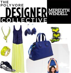 """""""Color Theory with Meredith Wendell"""" by jennifer-jordan-eastwood ❤ liked on Polyvore"""