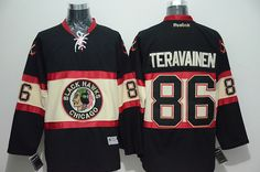 blackhawks 86 teuvo teravainen black new third stitched nhl jersey