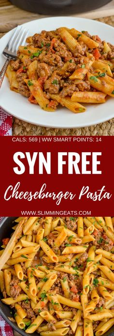Slimming Eats Syn Free One Pot Cheeseburger Pasta - Slimming World and Weight Watchers friendly astuce recette minceur girl world world recipes world snacks Slimming World Free, Slimming World Dinners, Slimming World Recipes Syn Free, Slimming Eats, Slimming World Pasta Bake, Slimming World Syns, Fake Away Slimming World, Slimming World Minced Beef Recipes, Slimming World Lasagne