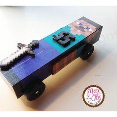 Minecraft Steve Pinewood Derby Car Skin - PDF minecraft pinewood ...