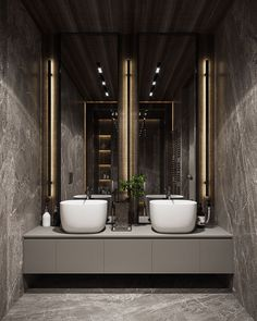 Residential interior with natural materials on Behance Residential Lighting, Residential Interior Design, Contemporary Interior Design, Luxury Interior Design, Bathroom Interior Design, Powder Room Design, Toilet Design, Elegant Homes, Apartment Interior