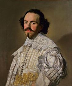Frans Hals, Dutch, 1580–1666  Portrait of a Gentleman in White, ca. 1637  Oil on canvas