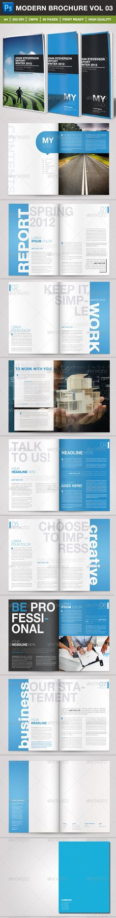 1307 best minimalist brochure template images on pinterest