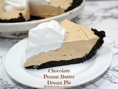 Michelle's Tasty Creations: Chocolate Peanut Butter Dream Pie. (can easily make this low sugar for the hubs!)