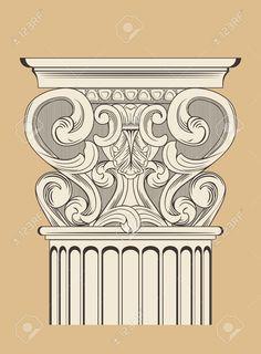 vintage ba-rocco rococo column Stock Vector - 44307282