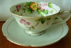 Vintage Chugai China Tea Cup and Saucer Made In Occupied Japan  #ChugaiChina