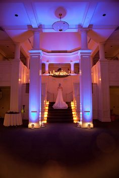 Fancy lighting and a great angle on our Great Hall.