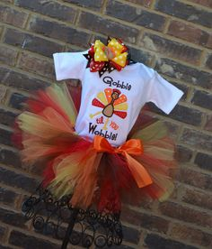 Gobble Till You Wobble Turkey Thanksgiving Tutu by TickleMyTutu, $49.95