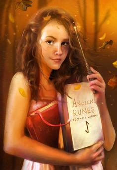 Hermione Granger and Her Books- http://elbarien.deviantart.com/art/Or-Worse-Expelled-295205202