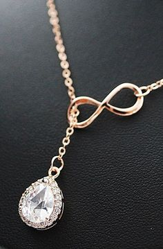Wedding Bridesmaid Necklace Infinity