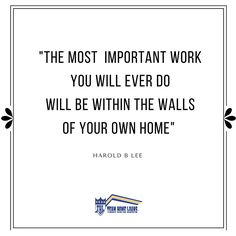 Creating a home is even more important than buying the house.