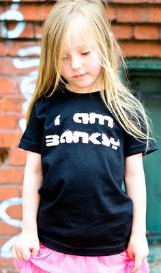 "Kids ""I Am Banksy"" Tee Shirt By Hatch For Kids - Children's Clothing Graffiti Street Art Tshirt - Size 2t, 4t, 6t, 8, 10, 12 on Etsy, $24.00"