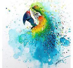"""飛び散る絵の具や、水彩画ならではの""""滲み""""を巧みに利用して、独特の躍動感を表現したコチラのアニマルアート。描いたのはシンガポールを拠点に活躍するアーティスト""""tilenti""""さんでして…"""