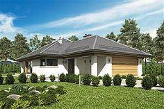 Projekt domu Morgan III 107,05 m2 - koszt budowy - EXTRADOM Dream House Plans, Gazebo, Outdoor Structures, Studio, Bonito, Projects, Kiosk, Pavilion, Studios