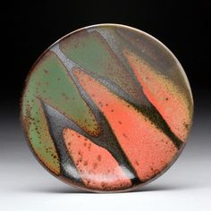 "Boundaries Platter, Red & Green Daphne's platters are available in four sizes:  7-8"", 11-12"", 15"" and 18-20""."