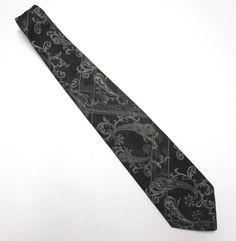 Black Silver Necktie Towncraft 4 Wide Tie by sweetie2sweetie