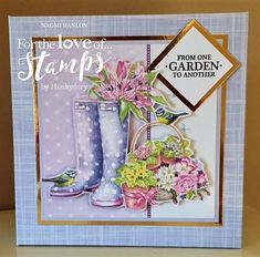 Made by Naomi Hanlon using Garden Treasures stamps and papers from Hunkydory Crafts Types Of Themes, Hunkydory Crafts, Hunky Dory, Cardmaking And Papercraft, Crafters Companion, Paper Artist, Heartfelt Creations, Card Designs, Diy Cards