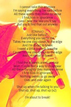 Linkin Park - one step closer lyrics.. I just love the background pic ;)