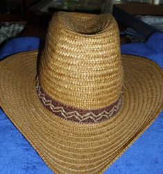 8fff39f4f78 Stomper Vintage Made In Italy Straw Cowboy Hat U by charliegirl01
