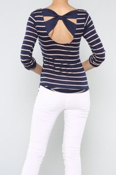 salediem.com boutique fashion not boutique prices.  Shipping FREE Bow Stripe Top