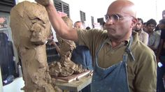 Sculpture Demonstration Prof.Sarath Chandrajeewa and prof. cao chang xu Earthenware clay 2014