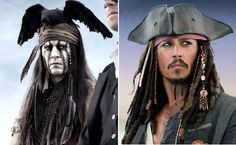 Johnny Depp as Tonto and my all-time favorite, Captain Jack