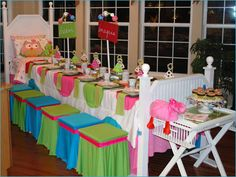 Slumber Party Table Setting