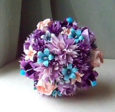 Purple Passion Exquisite Exotic OOAK Origami by EachLittleFlower
