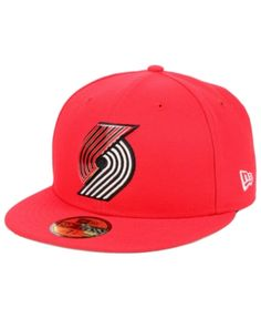 online retailer 86d62 18bea New Era Portland Trail Blazers Metal Mash Up 59FIFTY-fitted Cap - Red 7 1