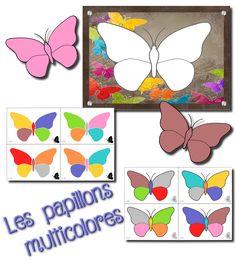 Voici un nouveau jeu :)   Il faut imprimer la planche plusieurs fois ( 6 à 8 selon le nombre d'enfants dans le groupe) et les papillons de ...
