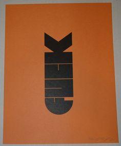 Olly Moss F-Bomb Art Print S/N 2011