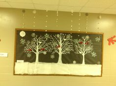 Winter Welcome.      My bulletin board at school