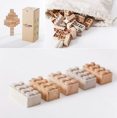 Handmade Wood LEGO Blocks