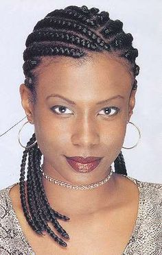 Cornrows , check out http://www.hairbraidingnetwork.com/photo