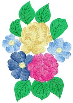 Bouquet 3 machine embroidery design